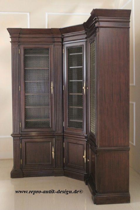barock b cher eckregal b cherregale shop repro antik. Black Bedroom Furniture Sets. Home Design Ideas
