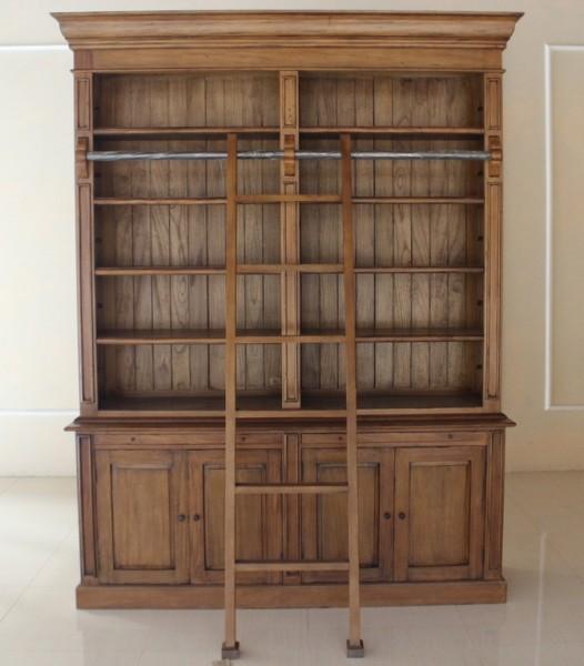 Brock Bücherregal, Repro-Antik-Design, mahagoni massiv holz, braun