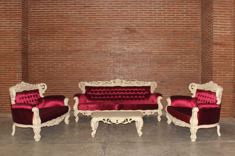 barock sofa garnitur giant 3 2 2 ink couchtisch lackiert in hell elfenbein mit gold dekor. Black Bedroom Furniture Sets. Home Design Ideas