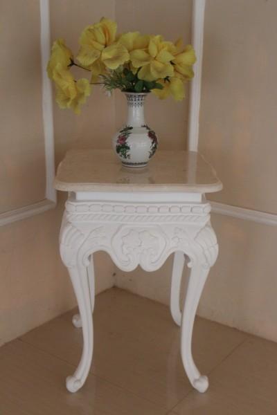 Barock Tisch Beistelltisch, Repro-Antik-Design, Mahagoni massiv Holz, mit marmorplatte, ausgefallen exclusive
