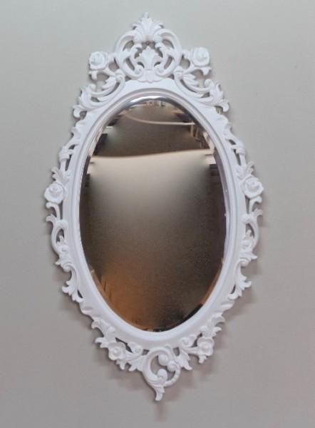 Barock Wandspiegel Spiegel, Repro-Antik-Design, weiß gold , Mahagoni massiv holz, ausgefallen exclusive