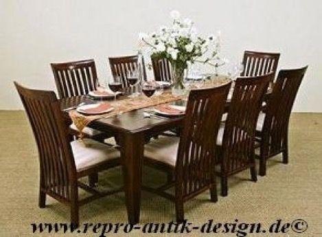 barock esszimmer garnitur kolonial g4 braun tisch mit. Black Bedroom Furniture Sets. Home Design Ideas