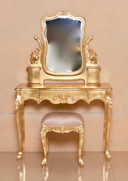 Barock schminktisch yorkshire belegt mit blattgold schminktische spiegel shop repro - Barock schminktisch ...